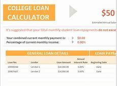 College loan calculator Templates Officecom