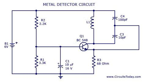 metal detector circuit diagrams schematics electronic projects electronics metal