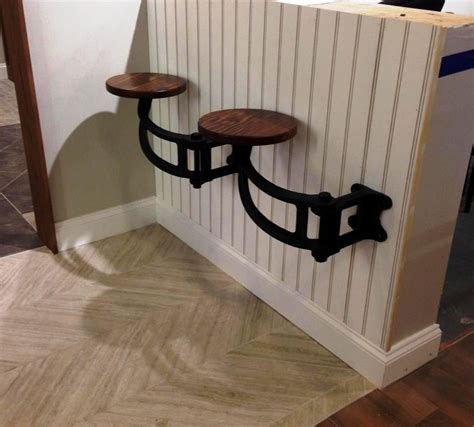 wood and metal bar stools the get back original swing out seat get back inc