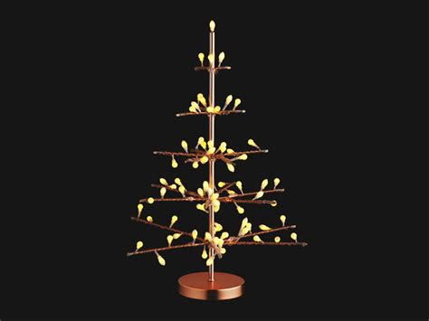 14 faux christmas trees to green your holidays copper led tree habitat inhabitat green