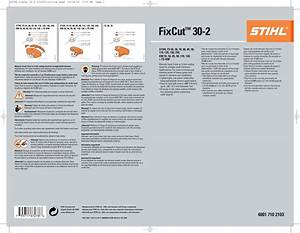 Stihl Fixcut 30 2 Trimmer Head Instruction Manual Cutting