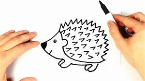 How to draw a Hedgehog for kids | Hedgehog Drawing Lesson ...