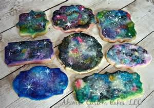 Galaxy Cookie Cake