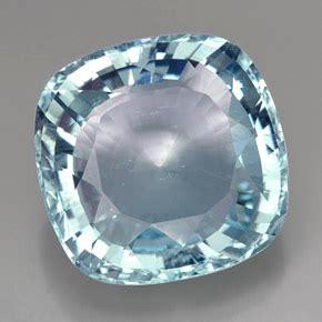 light blue gemstone 49 carat cushion 24 2x23 9 mm and untreated