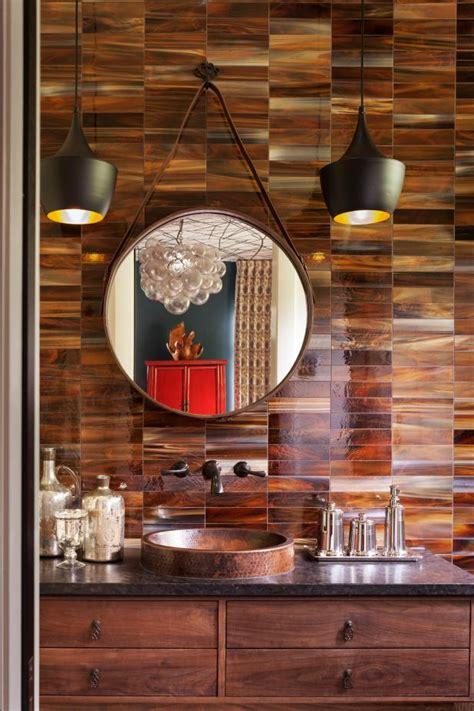 bathroom sink  vanity  brown tile backsplash hgtv
