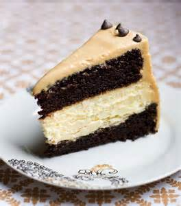 Chocolate Cake with Peanut Butter Cheesecake