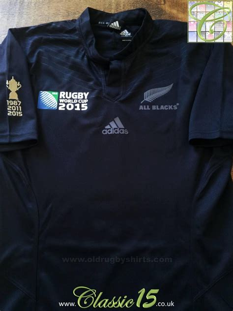 zealand  blacks home rugby shirt   added