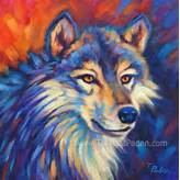 Wildlife Art of the West: Expressive Vibrantly Colorful Wolf Painting ...