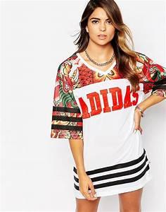adidas adidas rita ora robe t shirt imprime dragon With robe t shirt adidas