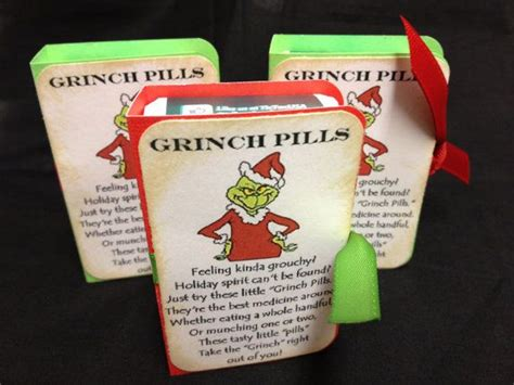 christmas quot grinch pills quot tic tac gifts stocking stuffers
