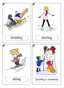 Winter Sports Flashcards  Szukaj W Google  Winter Sports  Pinterest  Winter Sport, Kid And