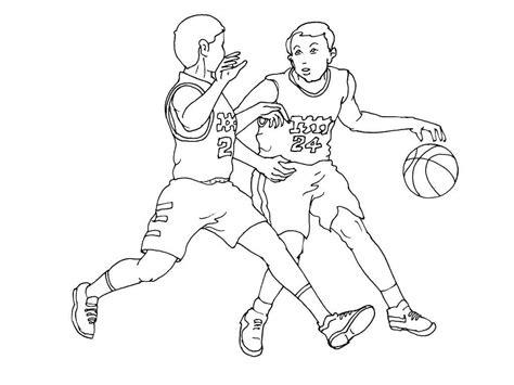 sport basketball filles coloriage dessin   fia