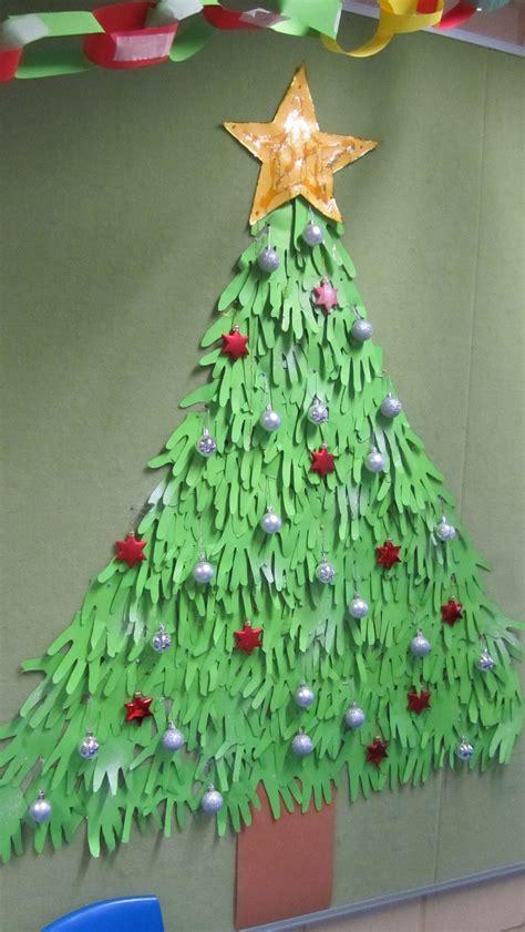 handprint christmas tree god is love