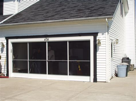 garage screen door garage screen door patio enclosure installation gallery