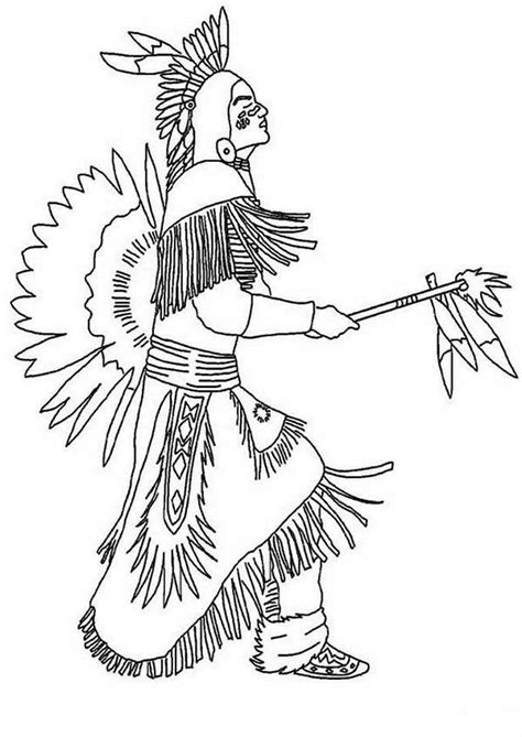 native americans coloring page coloring home