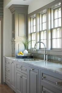 Cremone Bolts For Kitchen Cabinets by Stunning Kitchen Features Gray Cabinets Painted Benjamin
