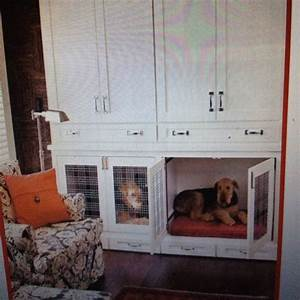 17 best images about dog kennel ideas on pinterest for Dog kennel cabinet