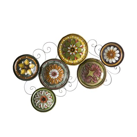 bed bath and beyond metal wall decor sei scattered italian plates wall wall
