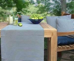 Tischläufer Von Sander : hochwertiger tischl ufer mit streifen wasserabweisend giordano von sander deko gartentisch ~ Markanthonyermac.com Haus und Dekorationen