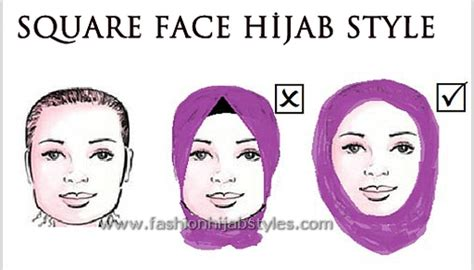 ways tie hijab  face shapes square face hijab