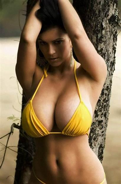 Bikini Denise Milani Yellow Babes Teen Morph