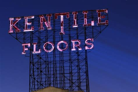 iconic kentile floors sign  gowanus  illuminate