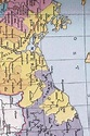Antique Map of Duchy of Pomerania (yellow) in 1400 Journal ...