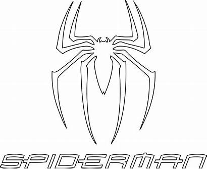Spiderman Coloring Symbol Pages Svg Drawing Vector