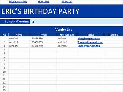 Guest Templates Birthday Template Party Word Excel