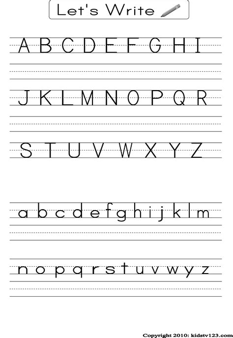 letter writing worksheets alphabet practice worksheets to print activity shelter