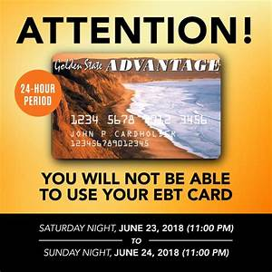 Memo Sample Ebt System Will Be Down June 23 And June 24 Please Plan