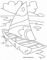 Coloring Yacht Pages Transport Boat Drawing Rickshaw Books Easy Craft Bestcoloringpages Ocean Colour Sheets Printable Sailboat Transportation Side Simple Painting sketch template