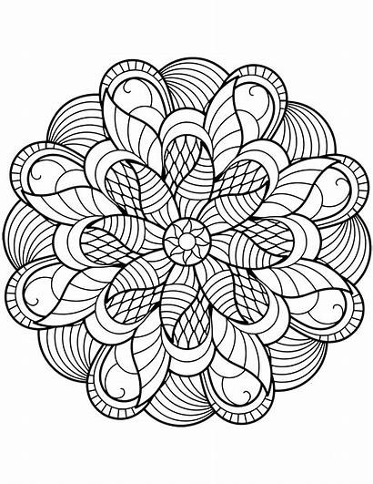 Mandala Coloring Flower Pages