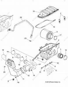Polaris Atv 2015 Oem Parts Diagram For Engine  Air Intake