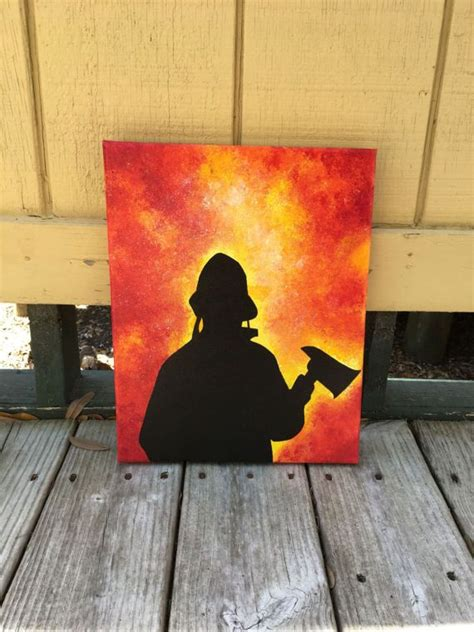 item  unavailable etsy firefighter art fire