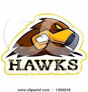 Clipart of a Black Hawk Beak and Eyes - Royalty Free ...