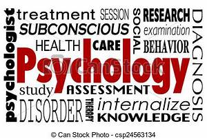 Psychology word collage treatment therapy mental illness ...