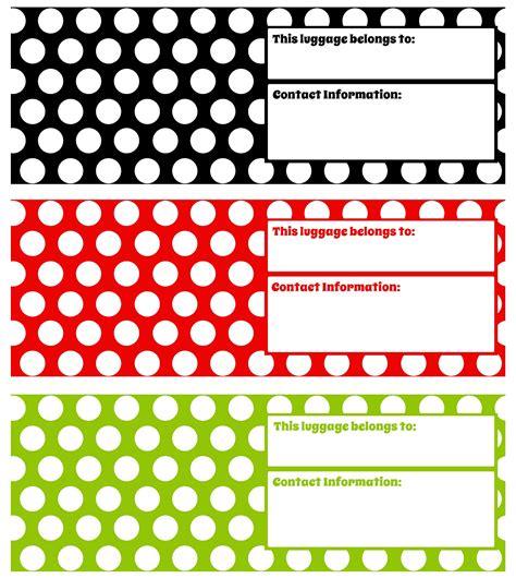 printable luggage tags darling doodles