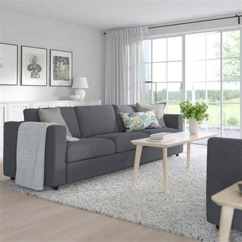 vimle  seat sofa gunnared medium grey ikea