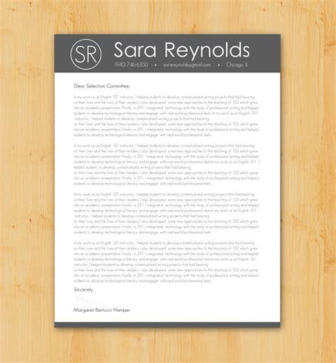 custom cover letter writing design job application
