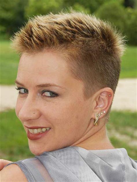 Very Modern Jagged Buzz Haircut For Women Short Haircuts