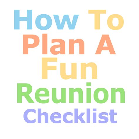 how to plan a family reunion family reunion planning guides apps and books fun family reunion planning checklist