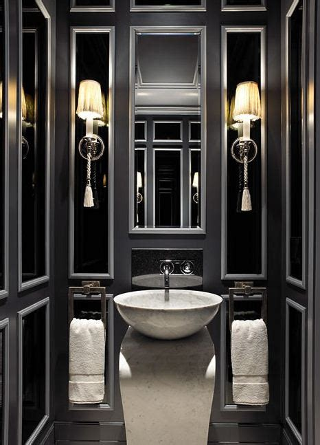 black white and silver bathroom ideas black powder room contemporary bathroom