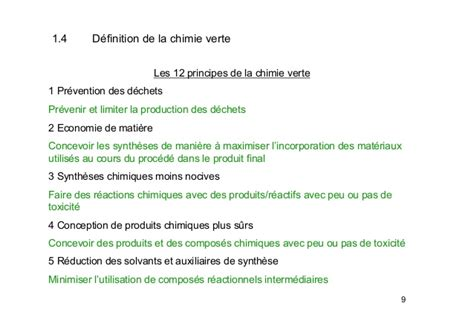 la chimie en cuisine introduction à la chimie verte