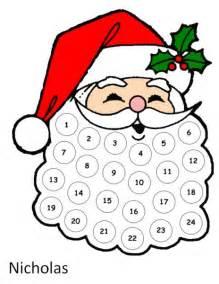 christmas craft santa s beard advent calendar the organised housewife