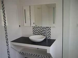 unique carrelage salle de bain avec frise mosaique 16 pour With salle de bain avec frise mosaique