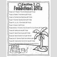 Summer Review Packet {kindergarten Math & Literacy} By Casey Hallett