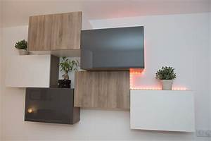 Ikea Besta Türen : composition rangement mural ikea besta bois gris blanc leds home ~ Orissabook.com Haus und Dekorationen