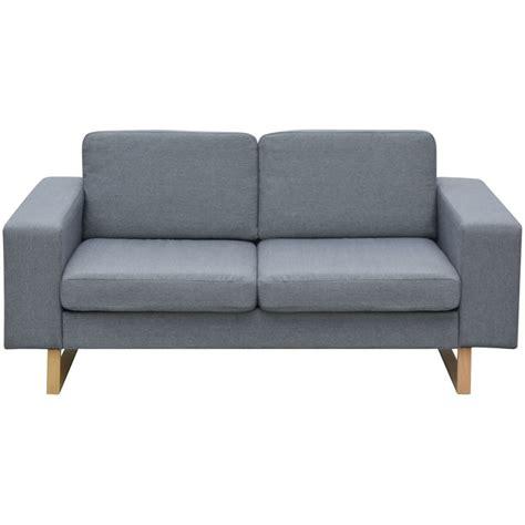canapé gris 2 places acheter vidaxl canapé avec 2 places tissu gris clair pas