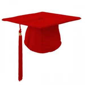 Red Graduation Cap with Tassel